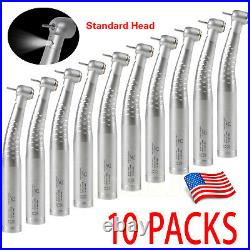 10 Dental Fiber Optic LED High Speed Handpiece 4/6 Hole Fit KaVo Multiflex Lux