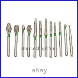 1000Pcs FG DIA-BURS Diamond Burs 158 Types for Dental High Speed Handpiece