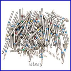 1000pcs Dental Tooth Drill Diamond Bur for High Speed Handpiece 158 Types Burs