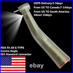 15 LED Fiber Optic Contra Angle Increasing Dental Handpiece NSK E-TYPE CICADA
