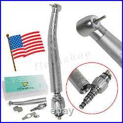 5 KaVo Style Dental Handpiece High Speed Push with4 Hole Quick Coupler 360 Swivel