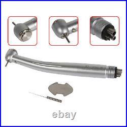 5X Dental LED Fiber Optic Handpiece Turbine 6Holes Large Head Torque UK JD6