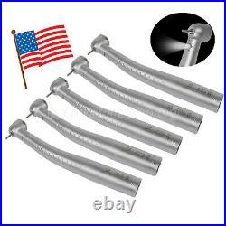 5pcs USA Dental Fiber Optic LED Turbine Handpiece Big Head fit KAVO Coupler 4/6H