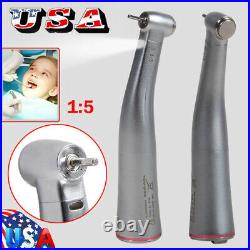 Dental 15 Electric Fiber Optic Increasing Contra angle handpiece Fit NSK KaVo