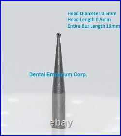 Dental Carbide Burs FG # 1/2 Round for High Speed Handpiece 100 Package