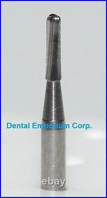 Dental Carbide Burs FG #1557 Domed Fissure Crosscut High Speed HP 100 Pack