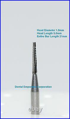 Dental Carbide Burs FG #700L Tapered Fissure Crosscut High Speed Handpiece 100pk
