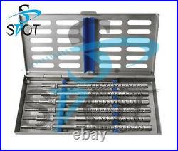 Dental Instruments Kit Osteotomes Convex Curved S/5 W Cassette Ostmspawc5 SdOt