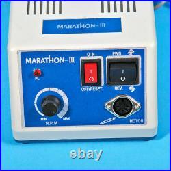 Dental Marathon 35K RPM Micromotor N3 Machine& Handpieces &10 Burs Drill US NEW1