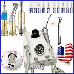 Dental Portable Air Turbine Unit+ High +Slow Speed Handpiece+Drill Burs10 SZO4