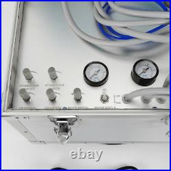 Portable Dental Delivery Unit Case + Compressor High Low Speed Handpiece Tube 4H